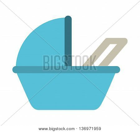 baby carriage isolated icon design, vector illustration  graphic