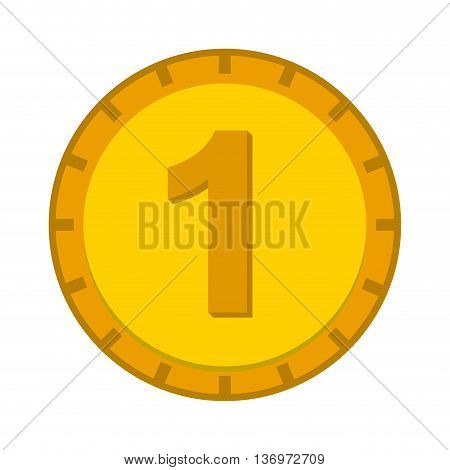 one dollar coin isolated icon design, vector illustration  graphic