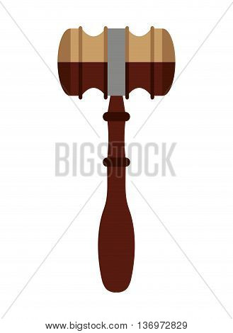 wooden gavel isolated icon design, vector illustration  graphic