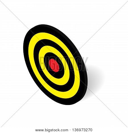 3D isometric dart target board icon for business success and sport concept vector illustration design isolated on white background