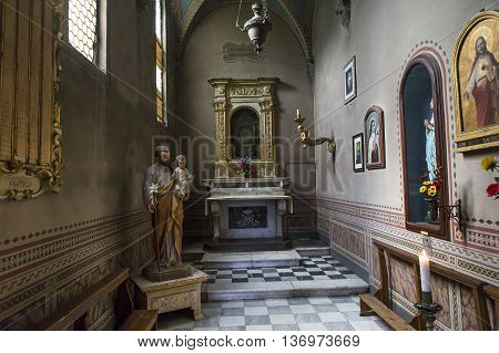 Interiors And Details Of Volterra Cathedral, Volterra, Italy
