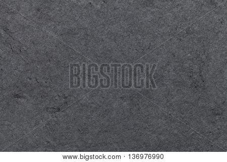 Dark gray background of natural slate. Texture black stone close up.