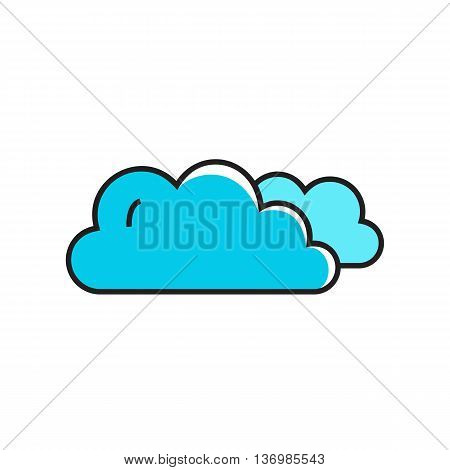 Clouds illustration. Cloudy weather, climate, weather forecast. Weather concept. Can be used for topics like weather, climate, meteorology, weather forecast poster