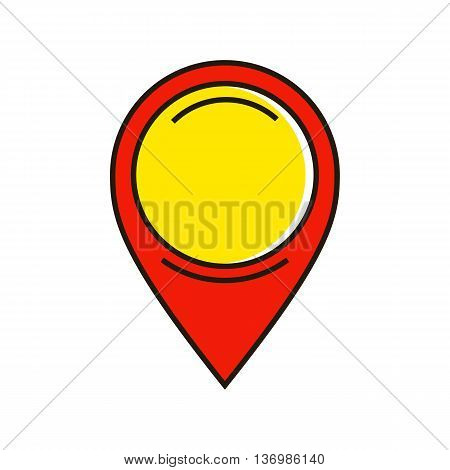 Map pointer. Map, navigation, location, direction. Location concept. Can be used for topics like travel, location, navigation