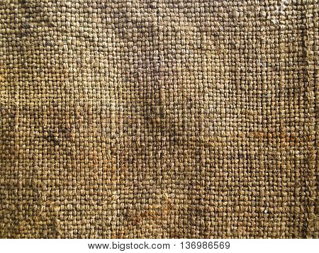 Close up to texture of Hemp sack tattered