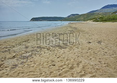 The beach of the Scala Resort, Kefalonia, Ionian Islands, Greece
