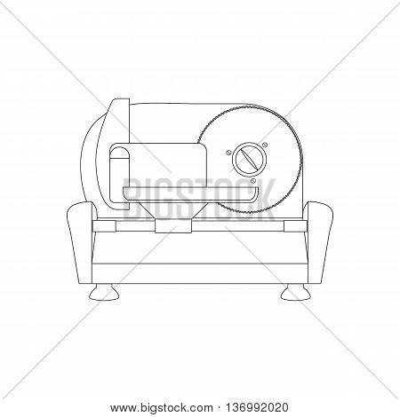 Kitchen Meat Slicer path on the white background. Vector illustration
