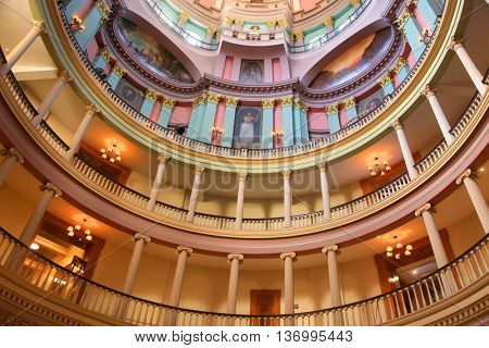 Saint louis, USA - April 28 : Old courthouse in Saint Louis is  Missouri's tallest habitable building from 1864 to 1894. On April 27,2016 Saint Louis, USA