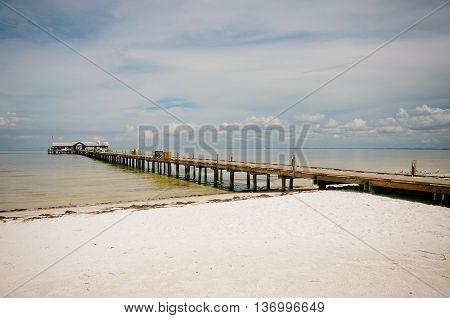 Historic Anna Maria City Fishing Pier on Anna Maria Island Forida