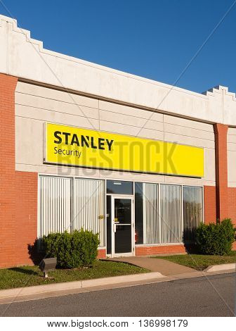 DARTMOUTH CANADA - JULY 03 2016: Stanley or Stanley Black & Decker is an American tools and hardware manufacturer which also provides locks and security products.