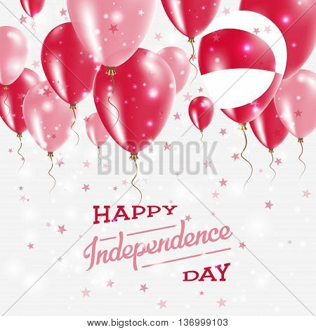 Greenland Vector Patriotic Poster. Independence Day Placard With Bright Colorful Balloons Of Country