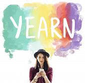 Yearn Yearning Demand Impress Inhibition Like Concept poster