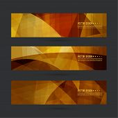 Set of abstract vector banners, header. Luxury title. Layout footer design. Dynamics and movement in curves poster