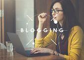Blog Blogging Blogger Content Lifestyle Online Concept poster