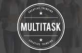 Multitask Tasks Multiprocessing Simultaneously Concept poster