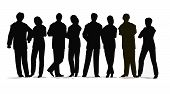 black silhouette of the business people crowd poster