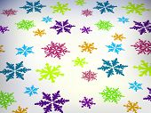 snowflakes pattern poster
