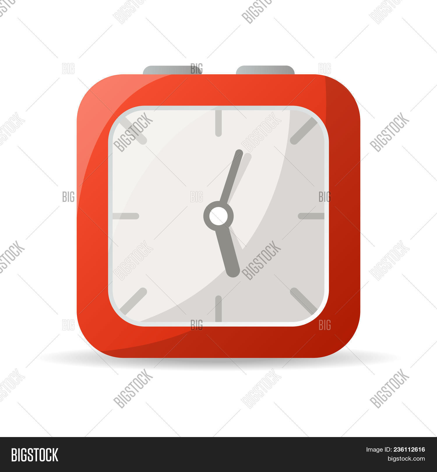 Red Analog Clock Icon Image & Photo (Free Trial)   Bigstock