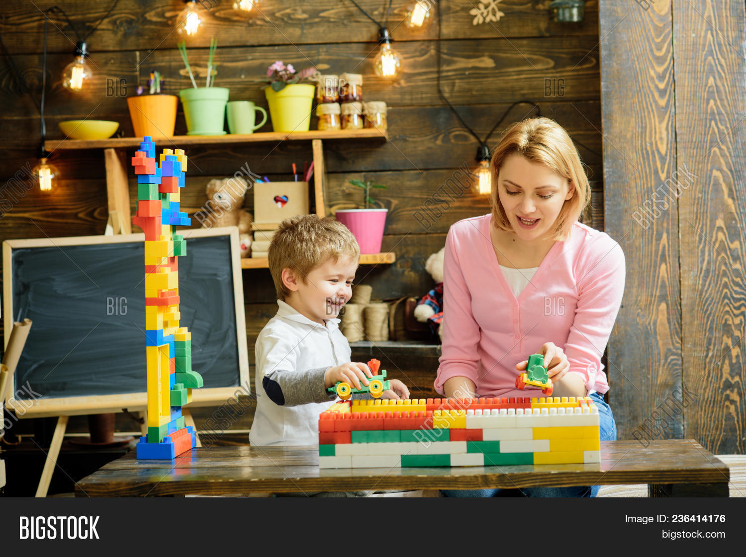 Mother Son Play Image Photo Free Trial Bigstock