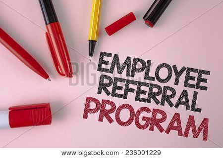 Conceptual Hand Writing Showing Employee Referral Program. Business Photo Text Recommend Right Jobse