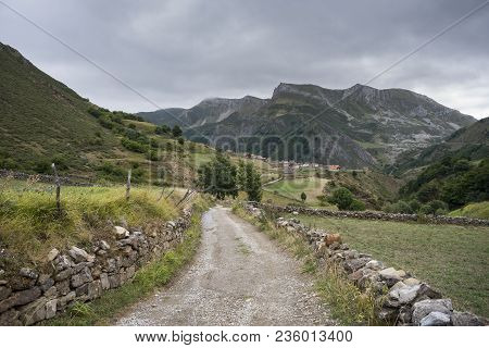 Views Of La Peral, In Somiedo Nature Reserve. It Is Located In The Central Area Of The Cantabrian Mo