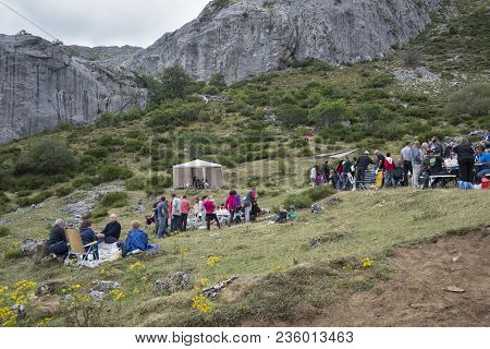 Popular Festival In Somiedo Nature Reserve, Principality Of Asturias, Spain On August 15, 2015.