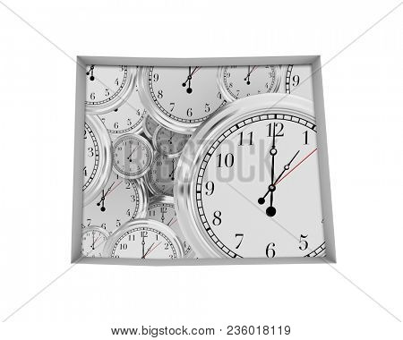 Colorado CO Clock Time Passing Forward Future 3d Illustration