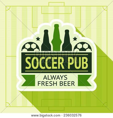 Sport Pub Badge, Vector Illustration 10 Eps, On A Green Background