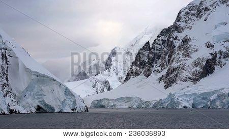 Ice Bergs Create Natural Beauty In Antarctica
