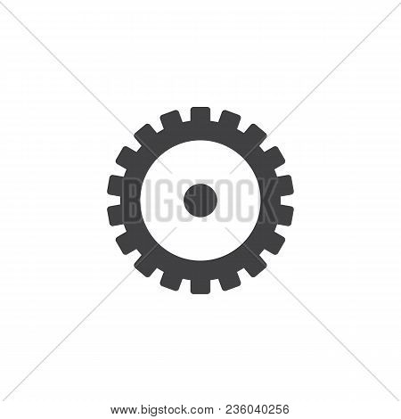 Gearwheel Vector Icon. Filled Flat Sign For Mobile Concept And Web Design. Cogwheel Simple Solid Ico