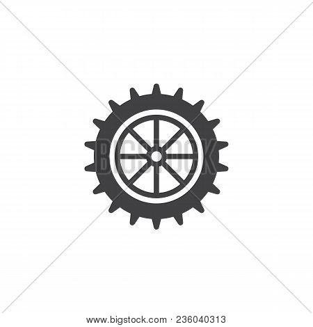 Settings Gear Vector Icon. Filled Flat Sign For Mobile Concept And Web Design. Cogwheel Simple Solid