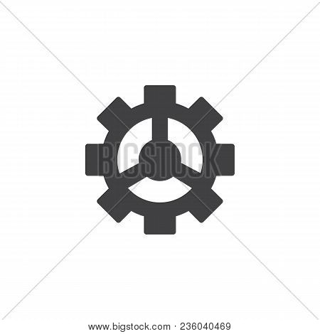 Gear Vector Icon. Filled Flat Sign For Mobile Concept And Web Design. Cogwheel Simple Solid Icon. Se