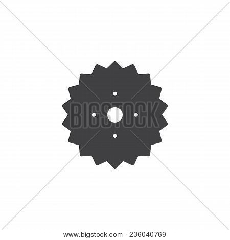 Gear Wheel Vector Icon. Filled Flat Sign For Mobile Concept And Web Design. Cogwheel Simple Solid Ic