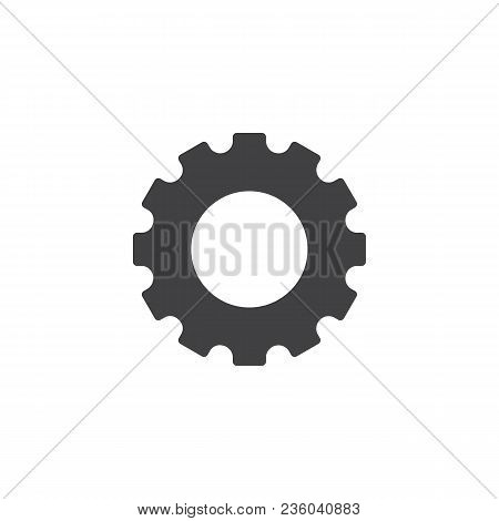 Gear Vector Icon. Filled Flat Sign For Mobile Concept And Web Design. Cogwheel Simple Solid Icon. Sy