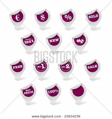 Purple Stickers