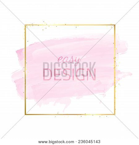 Vector Modern Design. Watercolor Fashion Template. Artistic Banner. Vector Handmade Frame. Summer Ab