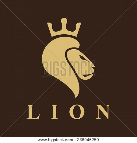 Lion Logo. Lion Head Vector. Lion Head Logo. Lion Icon. Lion King. Crown Icon. Crown Logo. Animal Lo