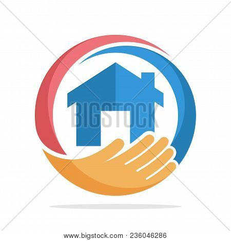 Logo Icon With The Concept Of Home Care, Home Insurance