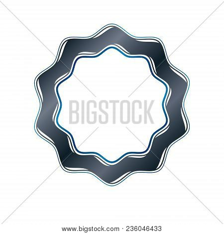 Victorian art vector circular frame with blank copy space created using curvy ornate. Heraldic template illustration. poster