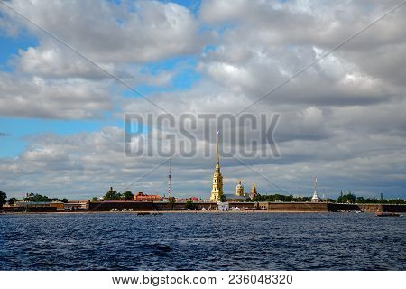 View Of The Peter And Paul Fortress On The Neva, St. Petersburg