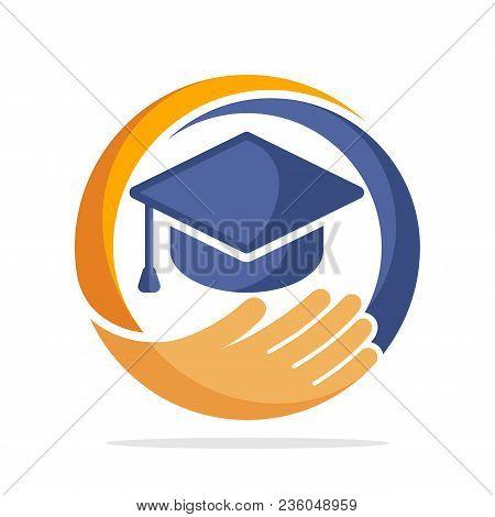 Icon Logo With Educational Program Management Concept