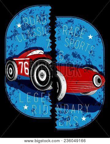 Broken Locket Car Vintage Graphic Fashion Style Art Poster