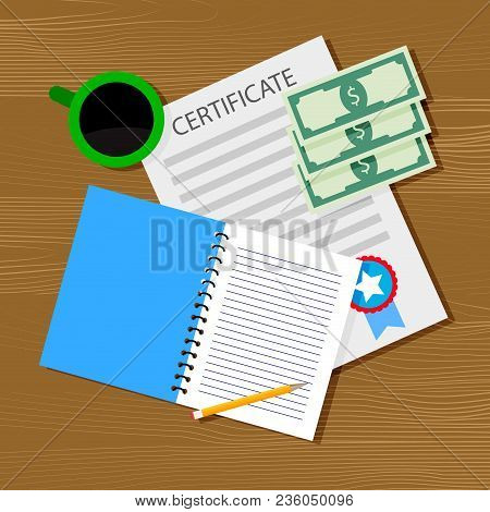 Financing And Investment In Education. Finance Investment Money In Graduation, Vector Illustration
