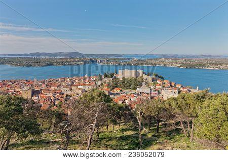 Saint Michael Fortress View From The Barone Fortress In Sibenik Croatia.