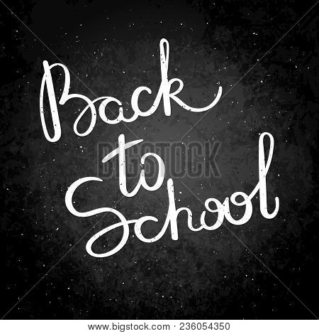 Back To School. Hand Drawn Vector Lettering Phrase. Modern Motivating Calligraphy Decor For Wall, Po
