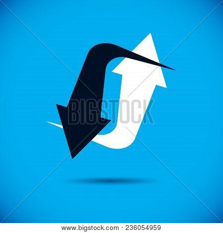 Vector Upward Trend Of Business Development. Business Development Logo . Company Growth Concept.