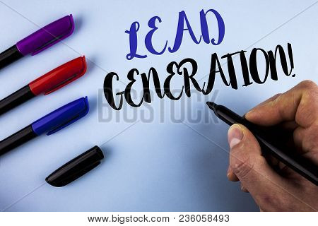 Conceptual Hand Writing Showing Lead Generation Motivational Call. Business Photo Text Sales Pipelin