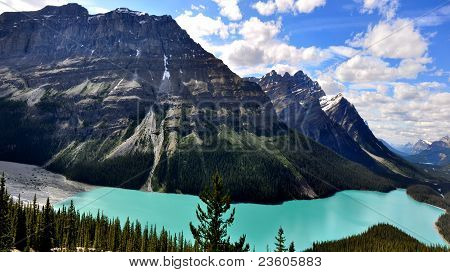 Peyto Lake in Canadian Rocky mountains