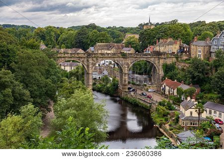 Knaresborough, North Yorkshire, England, Uk - September 09, 2016: View From The Castle Grounds Towar