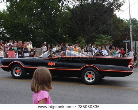 Batman 1966 Tv Series Batmobile In A Parade, Defiance, Oh July 26, 2006
